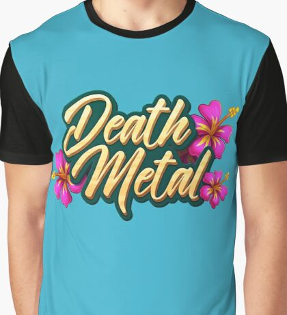 Death Metal Hawaii Graphic T-Shirt