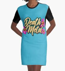 Death Metal Hawaii Graphic T-Shirt Dress