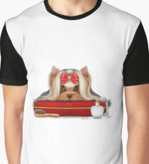 Yorkie Beauty Graphic T-Shirt
