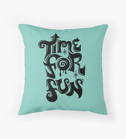 Time for fun - on lights Throw Pillow