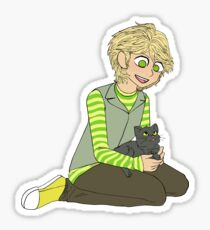 Adrien with a cat Sticker