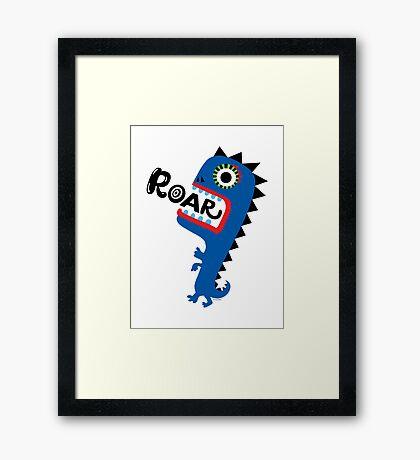 Roar Monster Framed Print