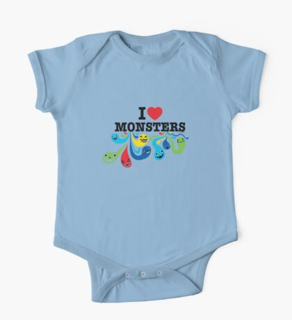 I Heart Monsters Kids Clothes