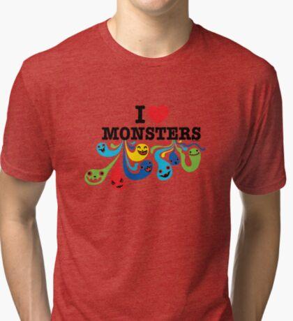 I Heart Monsters Tri-blend T-Shirt