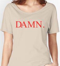 Kendrick Lamar DAMN. Red Women's Relaxed Fit T-Shirt