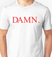 Kendrick Lamar DAMN. Red Unisex T-Shirt