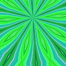 Bright Green and Blue Radiating Streaks by AuntieShoe