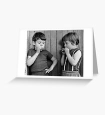 Catch 'em young. Greeting Card