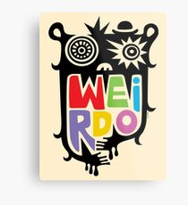 Big Weirdo - beige Metal Print