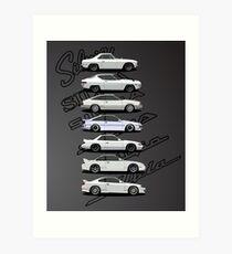 Nissan Silvia Generations Art Print