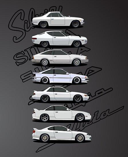 Nissan Silvia Generationen von AutomotiveArt