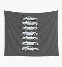 Nissan Silvia Generations Wall Tapestry