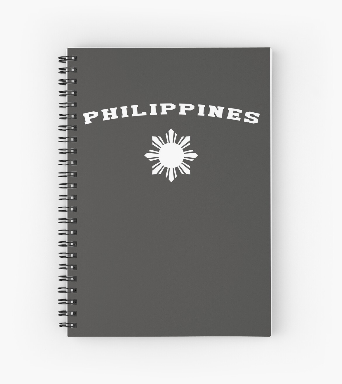 491474d113 'Philippines Pilipinas Flag Sun' Spiral Notebook by banwa