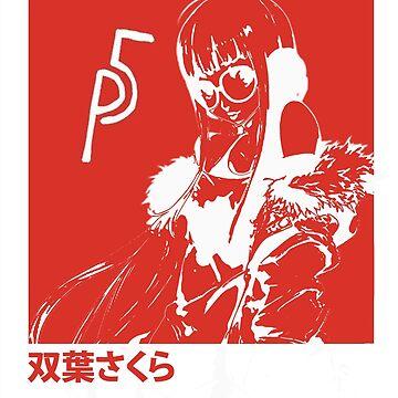 Persona 5 Sakura Fan art (kana version/wallet)  by movesouth