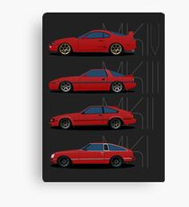 Toyota Supra Generations Canvas Print