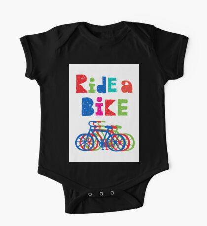 Ride a bike - sketchy - white Kids Clothes