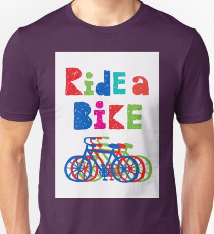 Ride a bike - sketchy - white T-Shirt