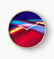 Neon - Red and Blue 2 Clock