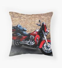 Red Harley Throw Pillow