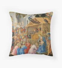 The Adoration of the Magi Fra Angelico and Fra Filippo Lippi Throw Pillow