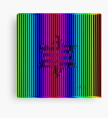 Star of David Abstract Rainbow 42017 Canvas Print
