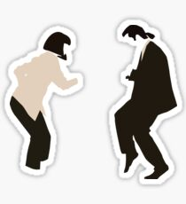 Mia and Vincent  - Pulp Fiction - top selling Sticker
