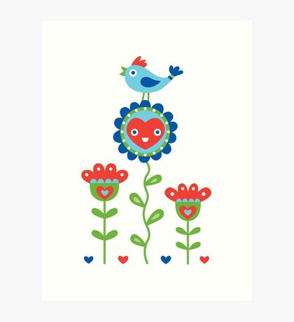 Happy - sweet print - multi Art Print