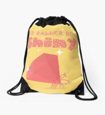 Shiny Ruby Crab 2 (dark) Drawstring Bag