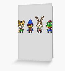 Star Fox Team Mini Pixels Greeting Card