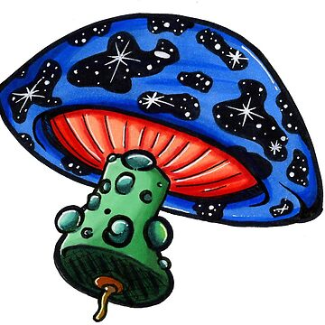 Space Shroom by cosmiccomics