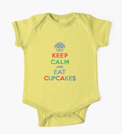 Keep Calm and Eat Cupcakes - primary 2 Kids Clothes