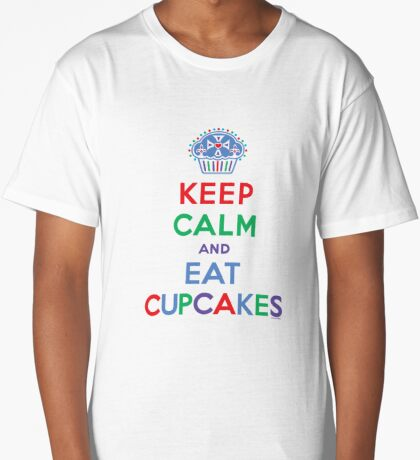 Keep Calm and Eat Cupcakes - primary 2 Long T-Shirt