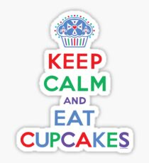 Keep Calm and Eat Cupcakes - primary 2 Sticker