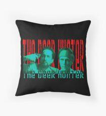 the deer hunter Throw Pillow