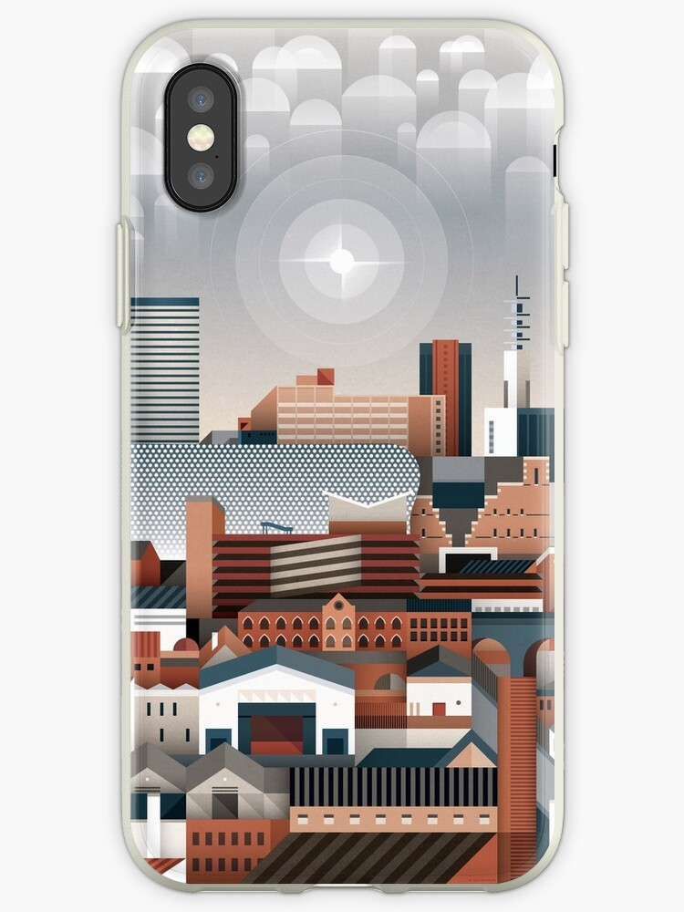sports shoes d3456 e1911 'Birmingham Cityscape II' iPhone Case by Brumhaus