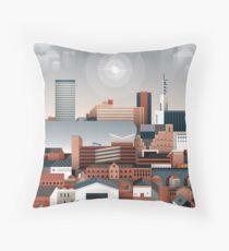 Birmingham Cityscape II Throw Pillow