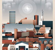 Birmingham Cityscape II by Brumhaus