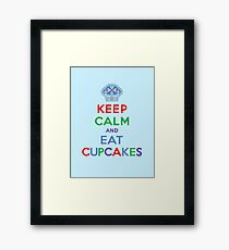 Keep Calm and Eat Cupcakes - primary 2 Framed Print
