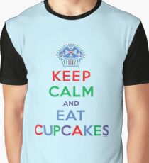 Keep Calm and Eat Cupcakes - primary 2 Graphic T-Shirt
