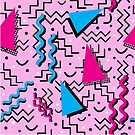 Funky Pink Memphis Abstract by Stacey Lynn Payne