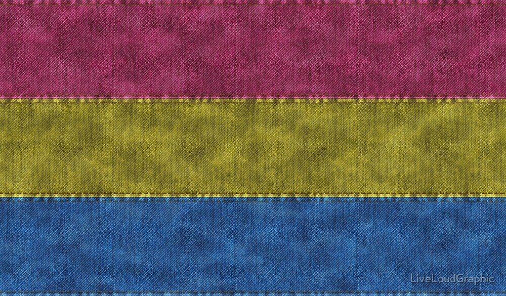 Pansexual Denim Flag by LiveLoudGraphic