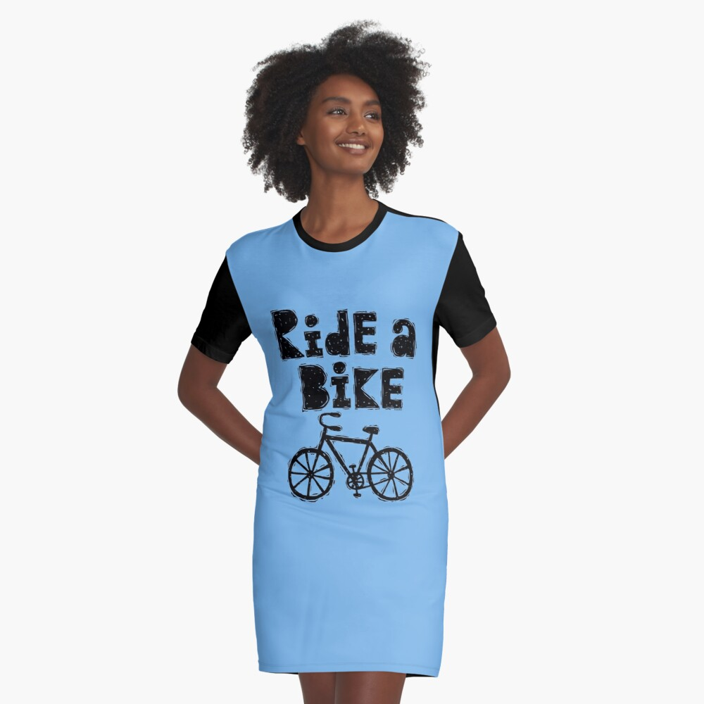 Ride a Bike - woody Graphic T-Shirt Dress Front