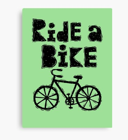 Ride a Bike - woody Canvas Print