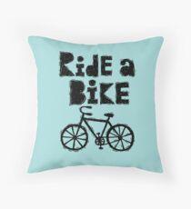 Ride a Bike - woody Throw Pillow