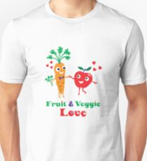 Fruit and Veggie Love Unisex T-Shirt