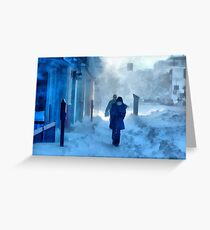 A Blistering Winter Walk Greeting Card