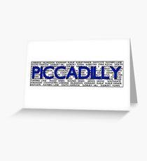 Piccadilly Line Greeting Card