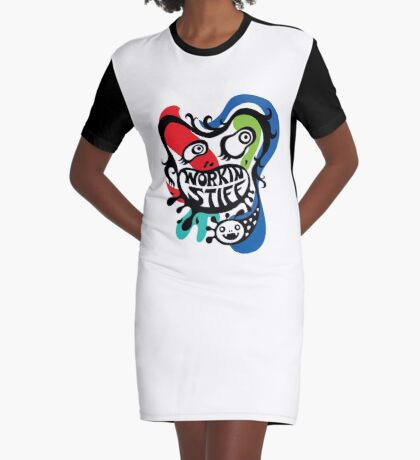 Workin' Stiff - primary colors Graphic T-Shirt Dress