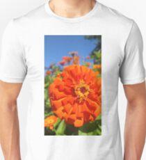 Orange King Zinnia Unisex T-Shirt