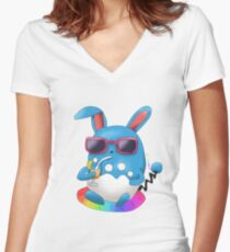Azumarill In Pool Women's Fitted V-Neck T-Shirt